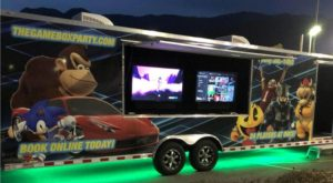 Video game truck party in Fontana Los Angeles Orange County California
